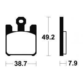 Plaquettes de frein TECNIUM MRR288 métal fritté
