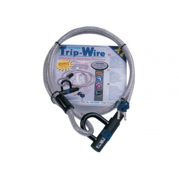 Antivol câble OXFORD XL Tripwire 1.8m x 15mm