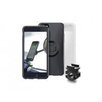 Pack complet SP-CONNECT Moto Bundle fixé sur rétroviseur iPhone 8/7/6S/6