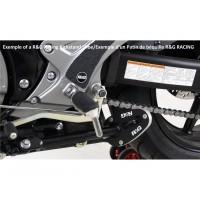 Patin de béquille latérale R&G RACING argent Yamaha R6
