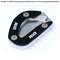 Patin de béquille latérale R&G RACING argent Triumph Bonneville Bobber