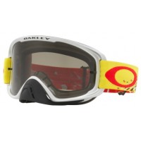 Masque OAKLEY O Frame 2.0 Checked Finish Yellow/Red écran Dark Grey