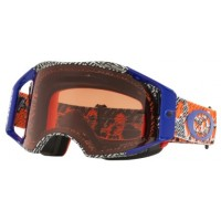 Masque OAKLEY Airbrake Dazzle Dyno Orange/Blue écran Prizm MX Bronze