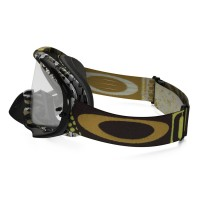 Masque OAKLEY Crowbar Enduro Mosh Pit Gold écran transparent
