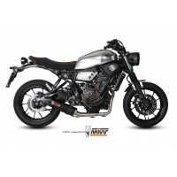 Ligne complète MIVV Oval inox silencieux carbone Yamaha XSR700