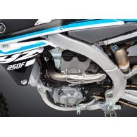 Ligne complète YOSHIMURA RS4 Signature Series titane silencieux carbone/casquette carbone Yamaha YZ250F