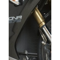 Protection de radiateur R&G RACING alu noir Triumph Daytona 675