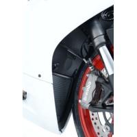 Protection de radiateur R&G RACING alu noir Ducati