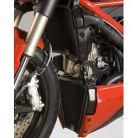 Protection de radiateur (eau & huile) R&G RACING noir Ducati Streetfighter 848