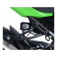 Patte de fixation de silencieux R&G RACING noir Kawasaki Ninja 400