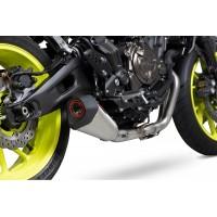 Ligne complète SCORPION Serket conique inox silencieux inox/casquette ABS noir Yamaha MT-07