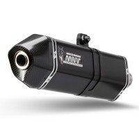 Silencieux MIVV Speed Edge inox noir/casquette carbone Yamaha FZ8/Fazer 8