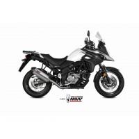 Silencieux MIVV Oval titane/casquette carbone Suzuki DL650 V-Strom