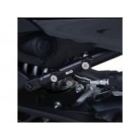 Cache orifice de repose-pieds R&G RACING noir Yamaha Niken