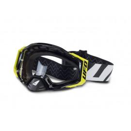Masque UFO Epsilon blanc/noir/jaune fluo écran clair