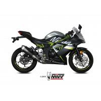 Silencieux MIVV Delta Race Steel Black/casquette carbone Kawasaki Ninja 125