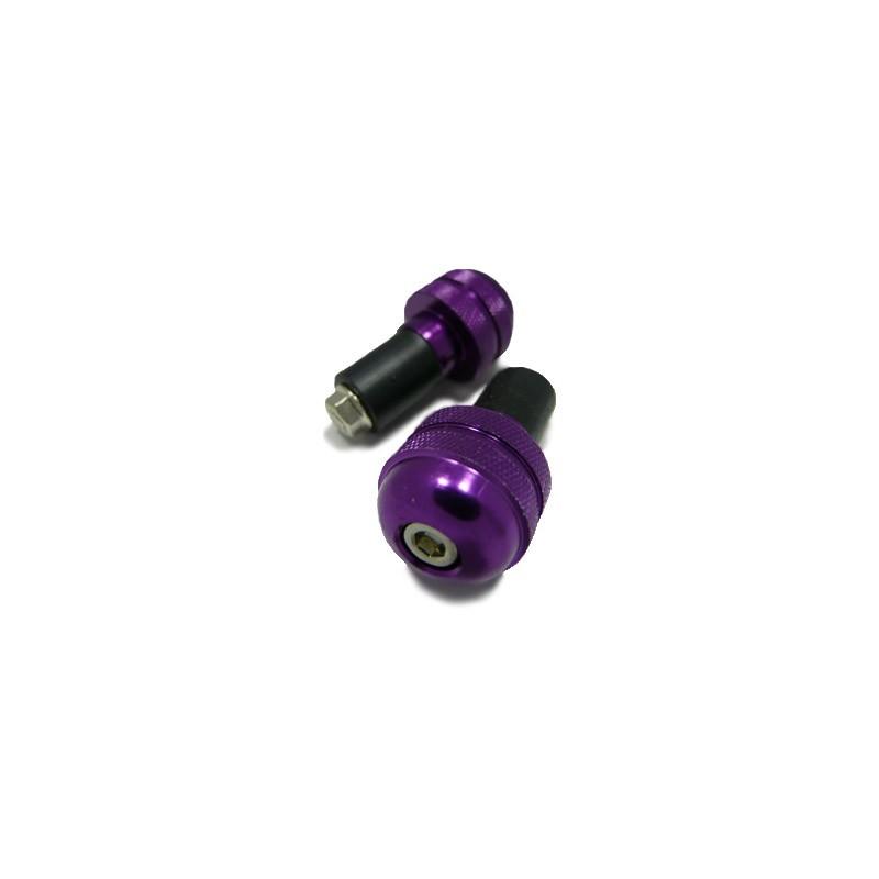 Embouts de guidon molette violet