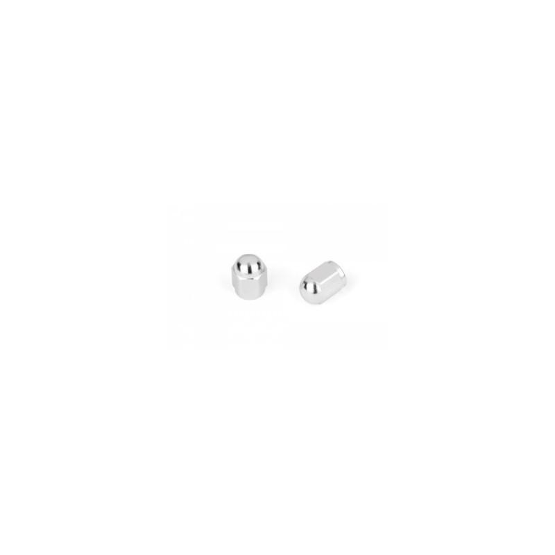 Bouchons de valves Hexagonal argent