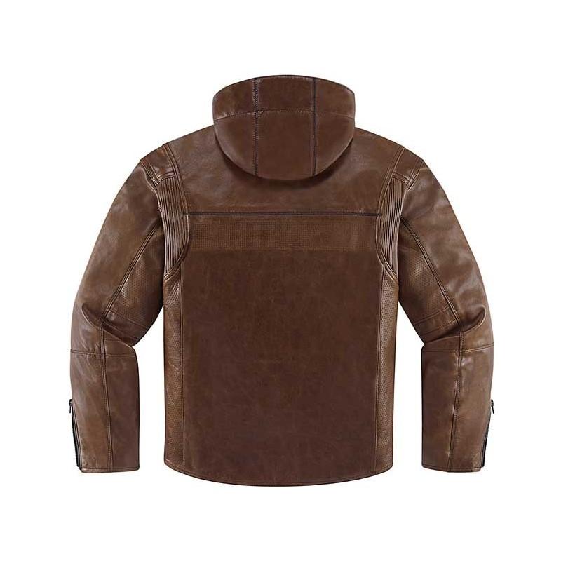 Blouson en cuir Icon 1000 Hood
