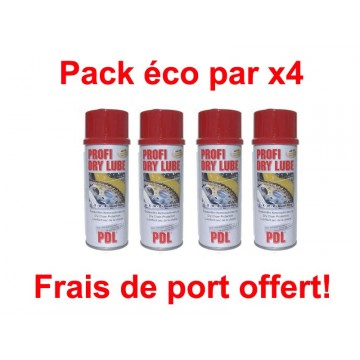 pack lubrifiant chaines pdl profi dry lube 4 x 400ml. Black Bedroom Furniture Sets. Home Design Ideas