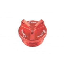 Bouchon de carter d'huile LIGHTECH 3 trous rouge M26 x 3