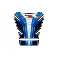 Protection de réservoir MOTOGRAFIX 2pcs blanc/bleu Suzuki GSR750