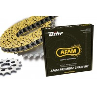 Kit chaine AFAM 520 type XSR (couronne ultra-light anodisé dur) KAWASAKI Z750