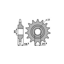 Pignon PBR chaîne 520 KAWASAKI Z750