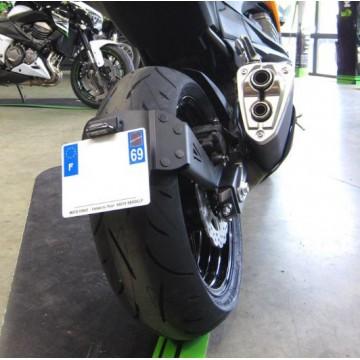 """Support de plaque ACCESS DESIGN déporté """"ras de roue"""" Kawasaki Z800"""
