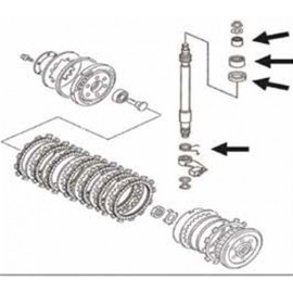 Kit de réparation pour maître cylindre d'embrayage Tourmax Kawasaki KXF450