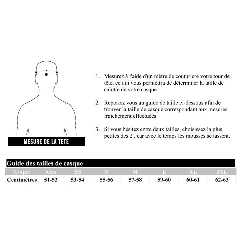 Guide des tailles casques LS2