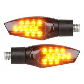 Clignotants LIGHTECH FRE911NER LED ABS noir universel