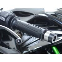 Embouts de guidon R&G RACING noir Kawasaki H2