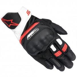 Gants Alpinestars SP-5 coloris blanc noir et rouge